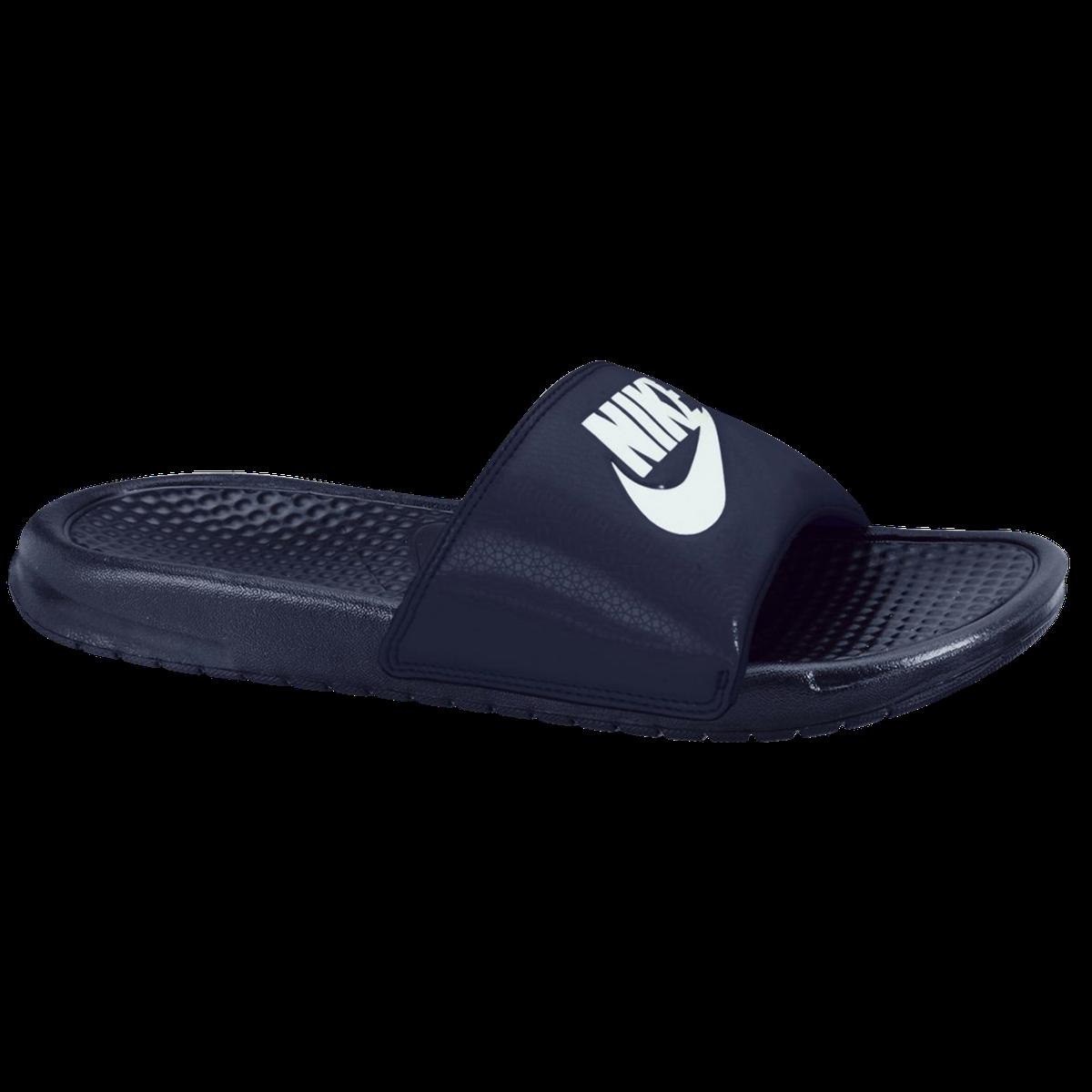sale retailer 309c2 be098 Nike Benassi Just Do It Sandal, tofflor herr - Mörk blå - Sandaler och  Flip-Flops Herr   XXL