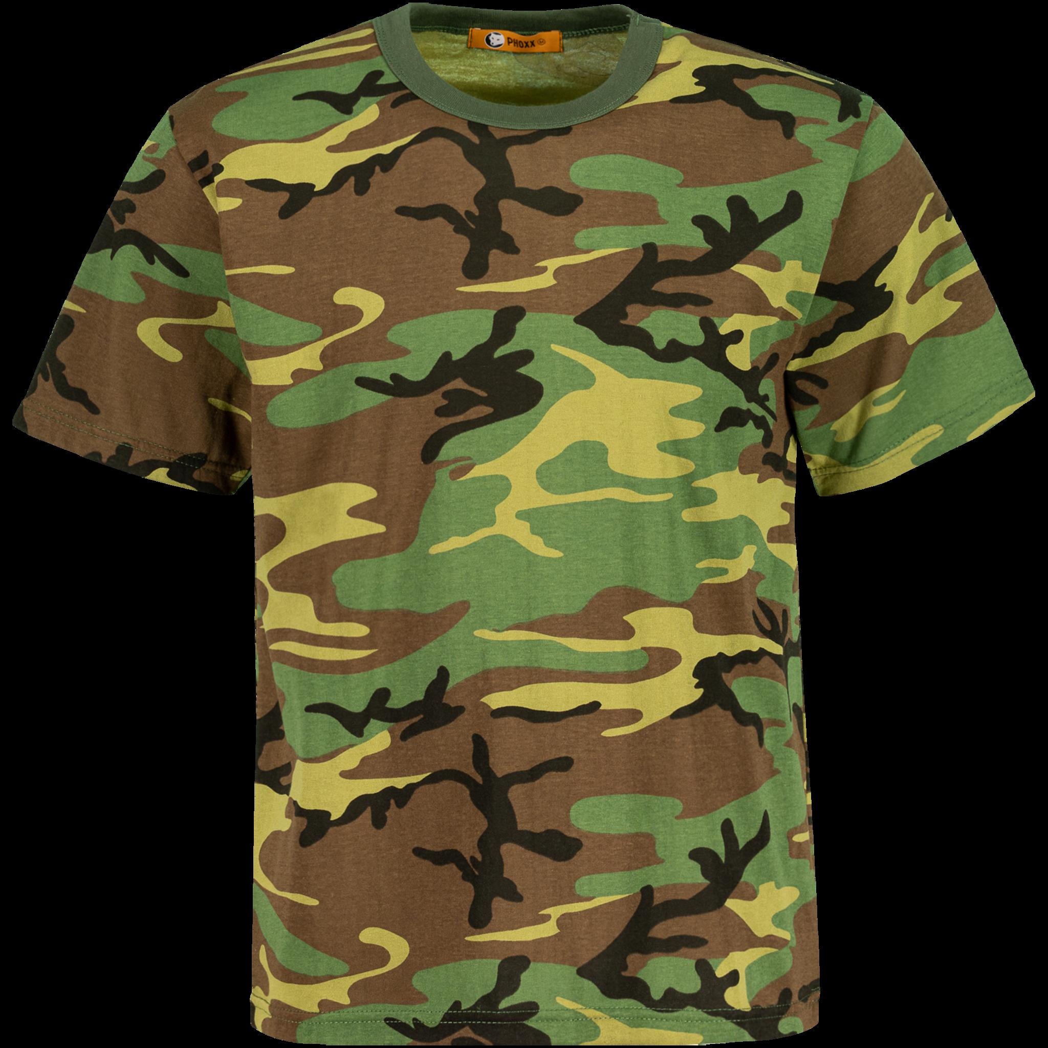 Phoxx Camo t shirt Green Camo Grön T shirts   XXL