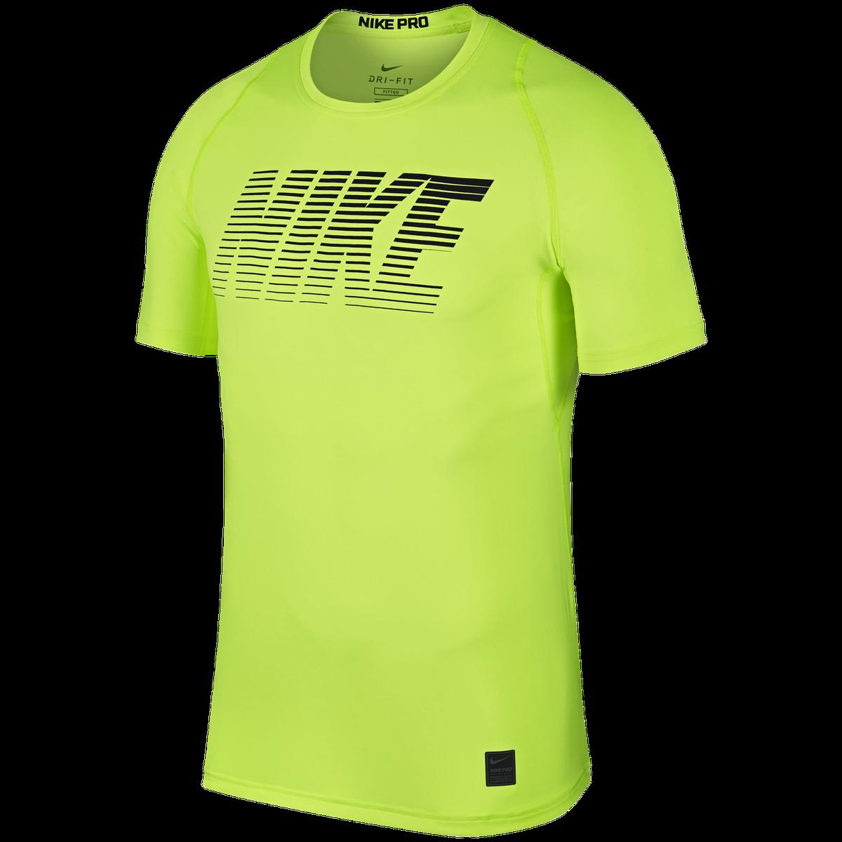 the best attitude bf4df 138f4 Nike Pro Short Sleeve Fitted Tee, t-shirt herr - Gul - Tränings t-shirts  Herr   XXL