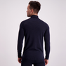 Wool Long Sleeve Half Zip Man Dark Navy