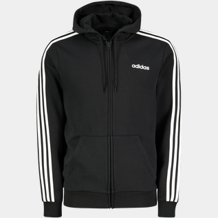 Essential 3-Stripes Full Zip, fleecejacka herr