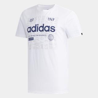 adidas Adi International Tee, t shirt herr Vit Fritids t shirts Herr | XXL