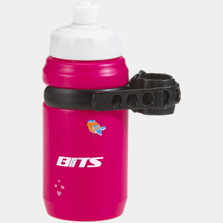 Bottle jr with clips, cykelflaska med hållare