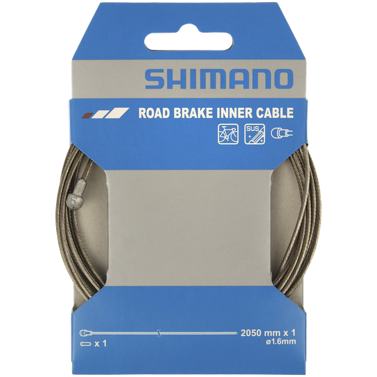 Shimano Brake Cable RACE 1,6 x 2050 mm stainless, bromsvajer landsvägscykel