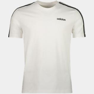 adidas Essential 3 Stripes Tee, t shirt herr Vit Fritids t shirts Herr | XXL