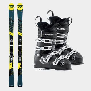 billigaste helt elegant New York Slalompaket med skidor, pjäxor och bindning | XXL